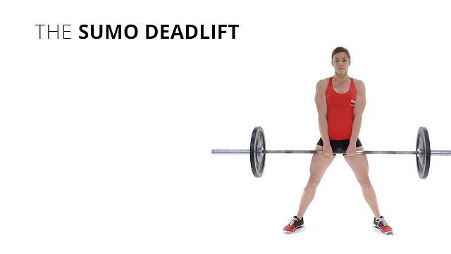 Thao tác tập Sumo Deadlift
