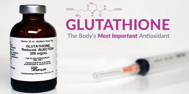 Một chế phẩm dạng tiêm của glutathione